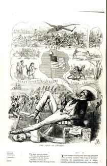 'The Land of Liberty', cartoon from Punch Magazine von Richard Doyle