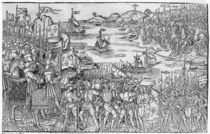 Louis IX of France disembarking at Damietta during the Seventh Crusade von French School