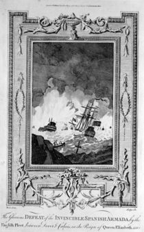 Defeat of the Spanish Armada von English School