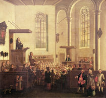 A Service in Old Cripplegate Church by English School