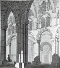 View of Durham Cathedral Nave by English School