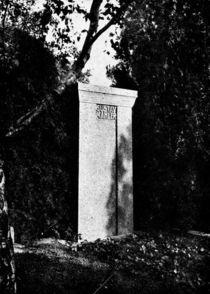 View of Gustav Mahler's gravestone by Austrian Photographer