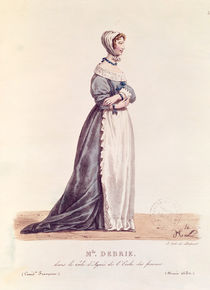 Madame Debrie in the role of Agnes in 'L'Ecole des Femmes' in 1680 von Hippolyte Lecomte