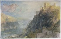 Rheinfels looking to Katz and Gourhausen by Joseph Mallord William Turner