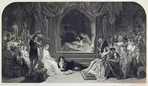 The Play Scene, Act III, Scene II of Hamlet by William Shakespeare von Daniel Maclise