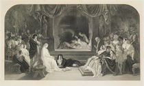 The Play Scene, Act III, Scene II of Hamlet by William Shakespeare von Daniel Maclise