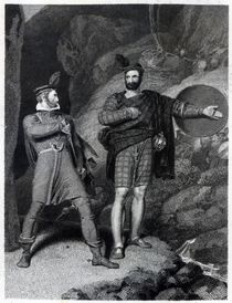 Roderick Dhu and a Clansman von Richard Westall