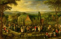 Country Life with a Wedding Scene by Jan Brueghel the Elder