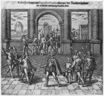 King Atahualpa treating his ransom with Francisco Pizarro by Theodore de Bry