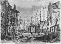 Paris, demolitions for the building of Rue des Ecoles by Felix Thorigny