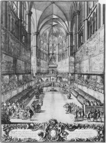 The Coronation of Louis XIV on 7th June 1654 in Reims cathedral by Jean Lepautre