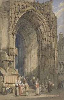 The Porch, Rheims Cathedral by Samuel Prout