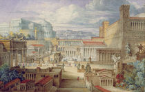 A Scene in Ancient Rome, A Setting for Titus Andronicus von Joseph Michael Gandy