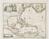 A New Map of the English Plantations in America by Robert Morden