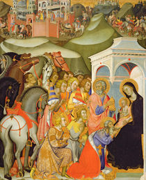 The Adoration of the Magi, c.1380 by also Manfredi de Battilori Bartolo di Fredi