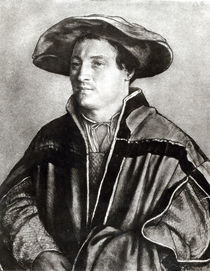 Portrait of a man with a red hat von Hans Holbein the Younger