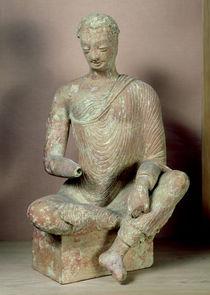 Buddha seated in meditation by Afghan School