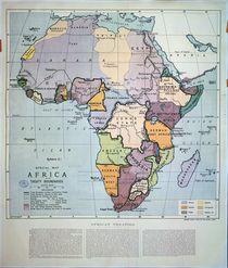 Map of Africa showing Treaty Boundaries von English School