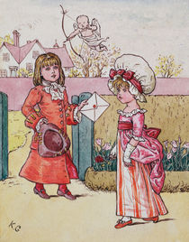 Illustration for 'St. Valentines Day' 1914 by Kate Greenaway