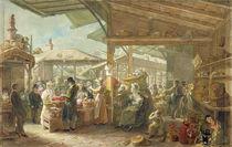 Old Covent Garden Market, 1825 by George the Elder Scharf