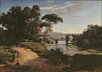 The Bridge at Narni, c.1826-27 by Jean Baptiste Camille Corot