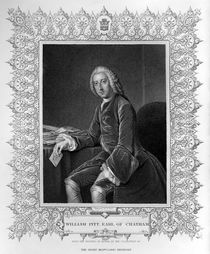 Portrait of William Pitt, 1st Earl of Chatham by William, of Bath Hoare