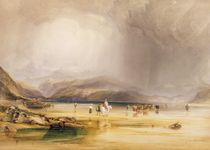 View from Snowdon from Sands of Traeth Mawe by Anthony Vandyke Copley Fielding