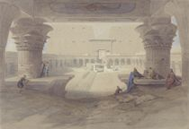 View from under the Portico of the Temple of Edfu by David Roberts