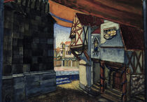 Stage design for the opera 'The Maid of Orleans' by Pyotr Tchaikovsky by Kuzma Sergeevich Petrov-Vodkin