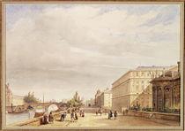 Le Quai d'Orsay, 1839 von Francois Etienne Villeret
