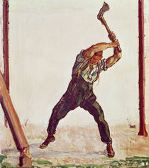 The Woodman, 1910 by Ferdinand Hodler