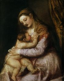 The Virgin and Child, c.1570-76 by Titian