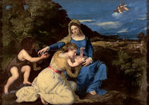 The Virgin and Child with Saints von Titian