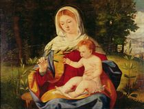 The Virgin and Child with a shoot of Olive von Andrea Previtali
