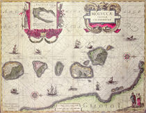 Map of The Moluccan Island by Willem Blaeu