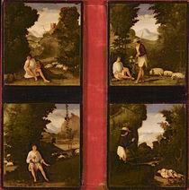 Scenes from Tebaldeo's Eclogues von Andrea Previtali