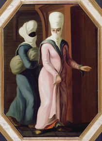 A Turkish Lady going with her slave to the Bath von Francis Smith