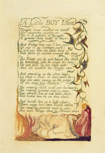'A Little Boy Lost', plate 42 from 'Songs of Experience' by William Blake