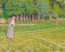 Tennis at Hertingfordbury, 1910 by Spencer Frederick Gore
