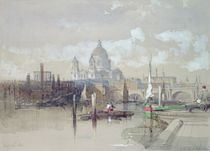 St. Pauls from the River, 1863 von David Roberts