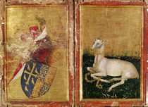 Coat of Arms and White Hart by Master of the Wilton Diptych
