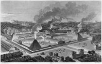 Perspective view of a canon forge von Claude Nicolas Ledoux