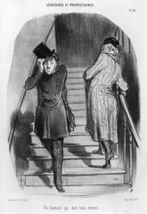 A tenant who owes three terms von Honore Daumier