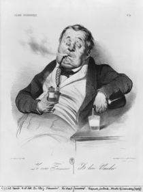 A true smoker, from the series 'Galerie physionomique' by Honore Daumier