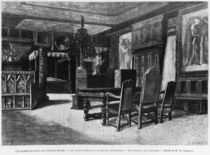 Homes of Victor Hugo, the lounge at Hauteville house in Guernsey von Charles Gosselin