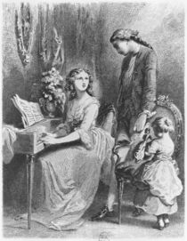 Illustration from 'The Sorrows of Werther' by Johann Wolfgang Goethe von Tony Johannot
