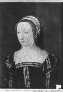 Portrait presumed to be Francoise d'Orleans Rothelin von Francois Clouet