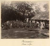 Burmese dancers celebrating von English Photographer