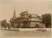 The Nan-U Human-Se, Shwe-Kyaung in the palace of Mandalay by Felice Beato
