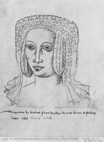 Ms 266 fol.55 Marguerite de Brabant by Flemish School